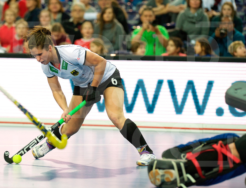 LEIZPIG - WC HOCKEY INDOOR 2015<br /> Foto: GER v BEL (Pool A)<br /> STEINDOR Luisa<br /> FFU PRESS AGENCY COPYRIGHT FRANK UIJLENBROEK