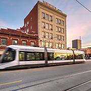 Hotel Midwest pre-renovation and Kansas City Streetcar
