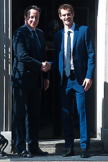 JULY 08 2013 Andy Murray meets Cameron at Downing Street