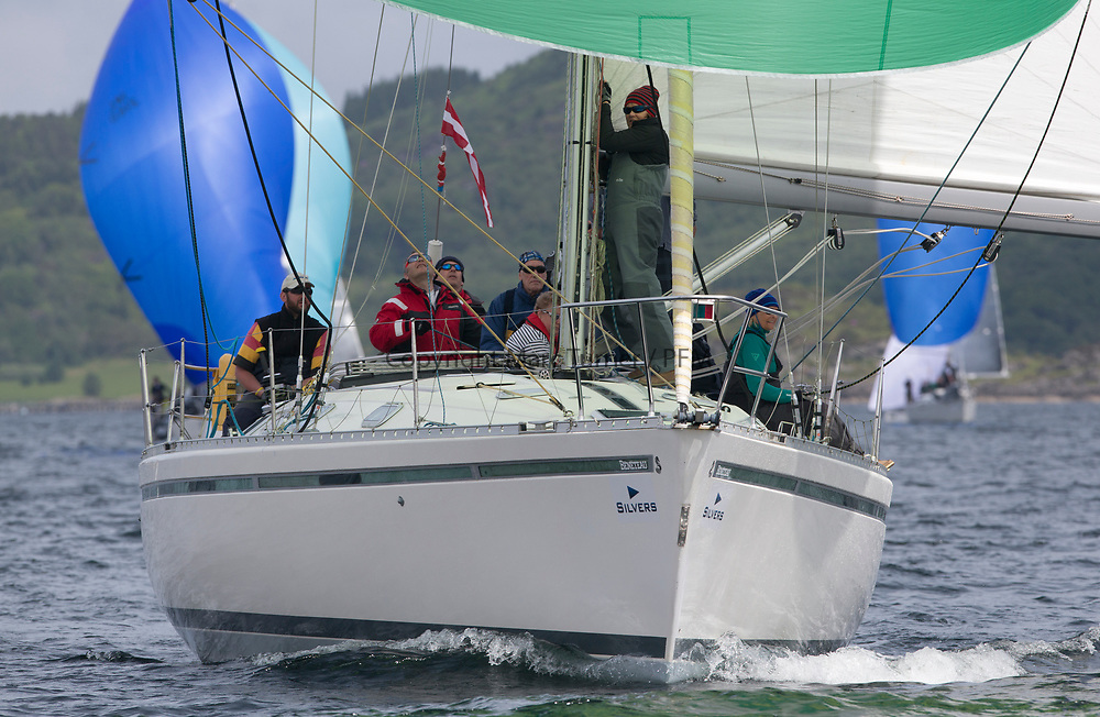 Silvers Marine Scottish Series 2017<br /> Tarbert Loch Fyne - Sailing<br /> <br /> GBR9963 , First By Farr , Ian McNair , CCC, First 45F5.<br /> <br /> Credit: Marc Turner / CCC
