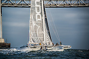L'Hydroptere racing in San Francisco Bay, CA