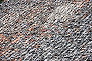 Roof tiles in Ping An, Longsheng traditional mountain village, near Guilin, China