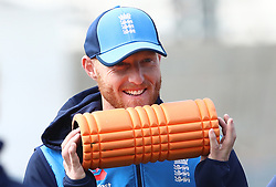 England's Ben Stokes during a nets session at Headingley, Leeds.