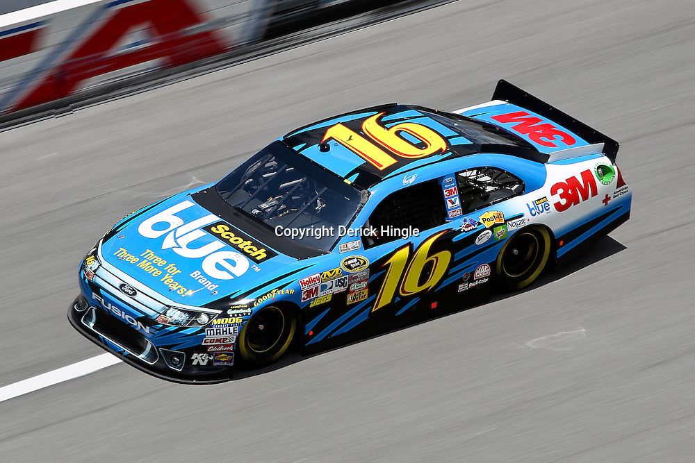 April 16, 2011; Talladega, AL, USA; NASCAR Sprint Cup Series driver Greg Biffle (16) during qualifying for the Aarons 499 at Talladega Superspeedway.   Mandatory Credit: Derick E. Hingle