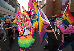 © Licensed to London News Pictures.09/07/2016. Bristol, UK. Bristol Pride parade through the city centre, celebrating the LGBT+ community. Photo credit : Simon Chapman/LNP