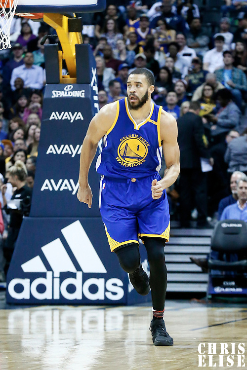 13 February 2017: Golden State Warriors center JaVale McGee (1) is seen during the Denver Nuggets 132-110 victory over the Golden State Warriors, at the Pepsi Center, Denver, Colorado, USA.