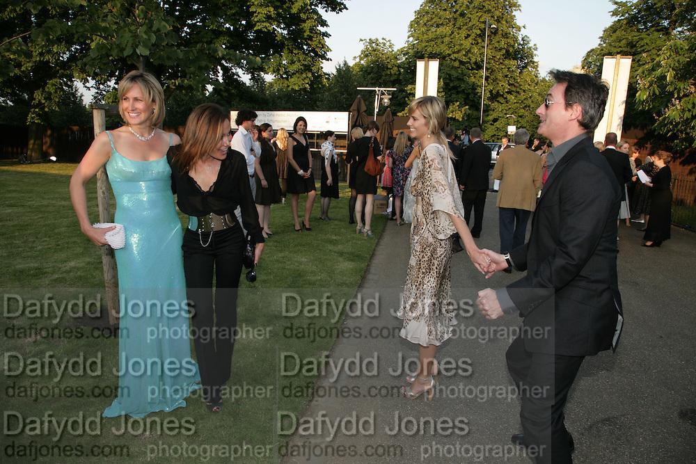 SANTA MONTEFIORE, TARA PALMER-TOMPKINSON, MALIN JOHANNSON AND TIM JEFFERIES. The Summer Party in association with Swarovski. Co-Chairs: Zaha Hadid and Dennis Hopper, Serpentine Gallery. London. 11 July 2007. <br /> -DO NOT ARCHIVE-© Copyright Photograph by Dafydd Jones. 248 Clapham Rd. London SW9 0PZ. Tel 0207 820 0771. www.dafjones.com.