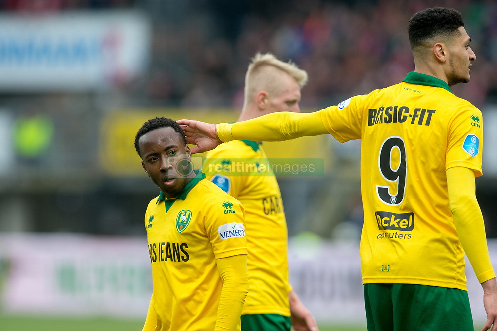 Elson Hooi of ADO Den Haag, Bjorn Johnsen of ADO Den Haag during the Dutch Eredivisie match between Sparta Rotterdam and ADO Den Haag at the Sparta stadium Het Kasteel on March 04, 2018 in Rotterdam, The Netherlands