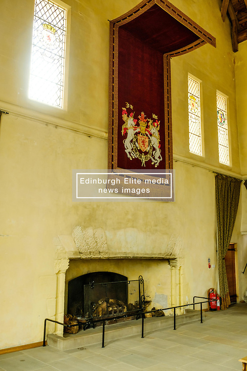 The fireplace in the Great Hall, Stirling Castle, Scotland<br /> <br /> (c) Andrew Wilson | Edinburgh Elite media