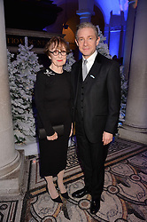 Una Stubbs, Martin Freeman at a glittering St Paul's Cathedral carol concert to celebrate Childline's 30th anniversary hosted by the NSPCC in the presence of HRH The Countess of Wessex., London England. 13 December 2016.