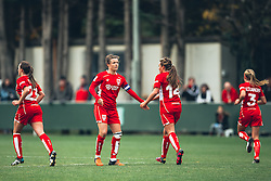 Bristol City Women celebrate a goal - Rogan Thomson/JMP - 06/11/2016 - FOOTBALL - The Northcourt Stadium - Abingdon-on-Thames, England - Oxford United Women v Bristol City Women - FA Women's Super League 2.