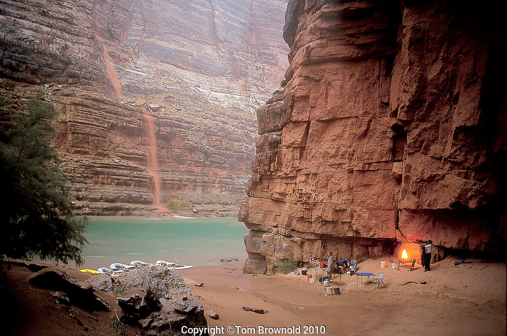 Dry Camp for a torrential rain fall in Grand Canyon