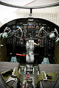 "Flightdeck of ""Special Delivery"" B-25 Mitchell bomber of the Commemorative Air Force (CAF) on April 20, 2007.  Three North American B-25 Mitchell bombers of the CAF were viewed by military families at Kelly Field, Lackland Air Force Base, TX on April 20, 2007. After the viewing, the three bombers made a 3-ship formation flyby of the Basic Military Training airmen graduation ceremonies. the aircraft were at Lackland Air Force Base to commemorate the 65th anniversary of the Doolittle air raid of Tokyo, Japan, the surviving airmen were present for a reunion during the week. (Photo copyright 2007 Lance Cheung).."