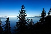 Coastal morning scenic overlooking  Samish Bay, Washington, USA.