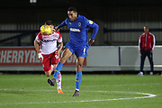 AFC Wimbledon defender Terell Thomas (6) controlling the ball during the EFL Trophy group stage match between AFC Wimbledon and Stevenage at the Cherry Red Records Stadium, Kingston, England on 6 November 2018.