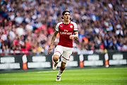 Arsenal defender Hector Bellerin (24) during the FA Community Shield match between Arsenal and Chelsea at Wembley Stadium, London, England on 6 August 2017. Photo by Sebastian Frej.