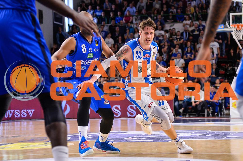 Achille Polonara<br /> Banco di Sardegna Dinamo Sassari - Germani Basket Leonessa Brescia<br /> Legabasket Serie A LBA PosteMobile 2017/2018<br /> Sassari, 08/04/2018<br /> Foto L.Canu / Ciamillo-Castoria