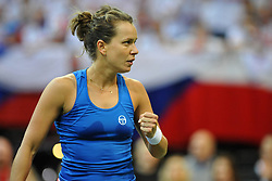February 10, 2018 - Prague, Czech Republic - Czech tennis player Barbora Strycova during in their Fed Cup match between Czech Republic v Switzerland in Prague, Czech Republic, February 10, 2018. (Credit Image: © Slavek Ruta via ZUMA Wire)