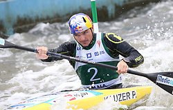 July 1, 2018 - Krakow, Poland - 2018 ICF Canoe Slalom World Cup 2 in Krakow. Day 2. On the picture: PETER KAUZER (Credit Image: © Damian Klamka via ZUMA Wire)