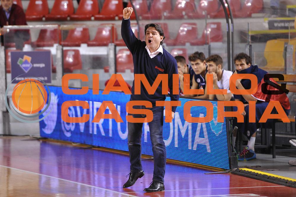 DESCRIZIONE : Roma LNP A2 2015-16 Acea Virtus Roma Assigeco Casalpusterlengo<br /> GIOCATORE : Alessandro Finelli<br /> CATEGORIA : allenatore coach delusione<br /> SQUADRA : Assigeco Casalpusterlengo<br /> EVENTO : Campionato LNP A2 2015-2016<br /> GARA : Acea Virtus Roma Assigeco Casalpusterlengo<br /> DATA : 01/11/2015<br /> SPORT : Pallacanestro <br /> AUTORE : Agenzia Ciamillo-Castoria/G.Masi<br /> Galleria : LNP A2 2015-2016<br /> Fotonotizia : Roma LNP A2 2015-16 Acea Virtus Roma Assigeco Casalpusterlengo