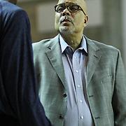 Delaware 87ers Head Coach Rod Baker seen near the sideline prior to a NBA D-league regular season basketball game Thursday, Dec. 12, 2013 at The Bob Carpenter Sports Convocation Center, Newark, DE