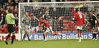 Photo: Aidan Ellis.<br /> Barnsley v Cardiff City. Coca Cola Championship. 29/09/2007.<br /> Barnsley's Brian Howard celebrates scoring the equaliser