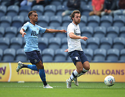 New Newcastle United signing Jacob Murphy (L) and Ben Pearson of Preston North End in action - Mandatory by-line: Jack Phillips/JMP - 22/07/2017 - FOOTBALL - Deepdale - Preston, England - Preston North End v Newcastle United - Pre-Season Club Friendly
