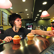 Nikkie Neugebauer serves up delicious gelato at Aromas Java and Gelato on the West side.