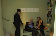 Beth Derbyshire<br />Mr. and Mrs. V. Poklewski Koziel. , . Exhibition of work by Beth Derbyshire, hosted by Alannah Weston. . Glebe Place. © Copyright Photograph by Dafydd Jones 66 Stockwell Park Rd. London SW9 0DA Tel 020 7733 0108 www.dafjones.com