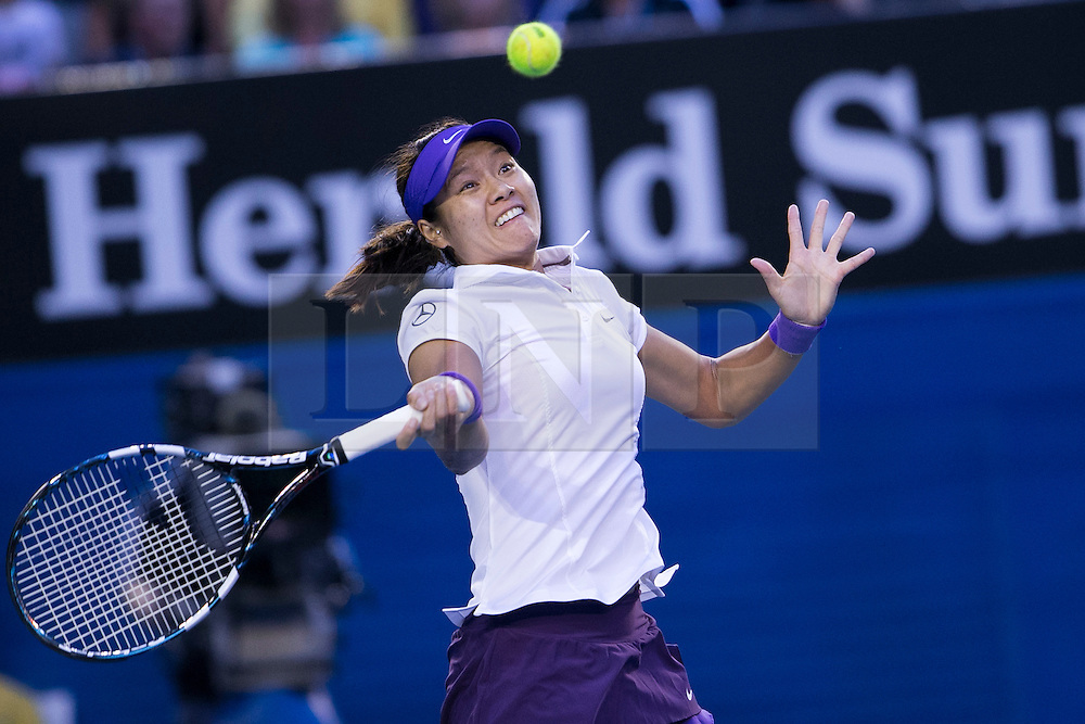 © Licensed to London News Pictures. 26/01/2013. Melbourne Park, Australia. Li Na during the Womens Final between Victoria Azarenka and Li Na of the Australian Open. Photo credit : Asanka Brendon Ratnayake/LNP