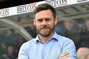 manager of Scunthorpe United Graham Alexander during the EFL Sky Bet League 1 match between Scunthorpe United and Chesterfield at Glanford Park, Scunthorpe, England on 17 April 2017. Photo by Ian Lyall.