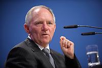 07 JAN 2008, KOELN/GERMANY:<br /> Wolfgang Schaeuble, CDU, Bundesinnenminister, haelt eine Rede, Gewerkschaftspolitische Arbeitstagung des Deutschen Beamtenbundes, dbb, Messe Koeln<br /> IMAGE: 20080107-01-080<br /> KEYWORDS: Köln, Wolfgang Schäuble