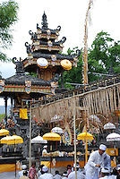 Ceremony at an Agong Temple on Bali, Indonesia.