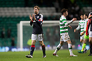 Dundee's Craig Wighton applauds the travelling support at the end - Celtic v Dundee in the Ladbrokes Scottish Premiership at Celtic Park, Glasgow. Photo: David Young<br /> <br />  - © David Young - www.davidyoungphoto.co.uk - email: davidyoungphoto@gmail.com