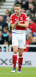 19.03.2017, Riverside Stadium, Middlesbrough, ENG, Premier League, FC Middlesbrough vs Manchester United, 29. Runde, im Bild Ben Gibson of Middlesbrough rallies the team after conceding a second goal // Ben Gibson of Middlesbrough rallies the team after conceding a second goal during the English Premier League 29th round match between FC Middlesbrough and Manchester United at the Riverside Stadium in Middlesbrough, Great Britain on 2017/03/19. EXPA Pictures © 2017, PhotoCredit: EXPA/ Focus Images/ Simon Moore<br /> <br /> *****ATTENTION - for AUT, GER, FRA, ITA, SUI, POL, CRO, SLO only*****