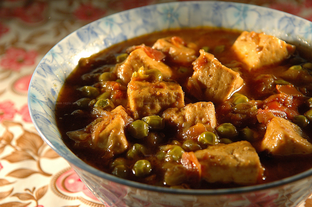 Matar Paneer - green peas with Paneer cheese ( Recipe available upon request )
