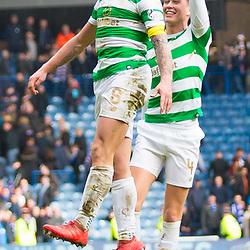 Rangers v Celtic Scottish Premiership 11 March 2018; Scott Brown (Celtic, 8) celebrates after the Rangers v Celtic Scottish Premiership match played at Ibrox Stadium, Glasgow; <br /> <br /> &copy; Chris McCluskie | SportPix.org.uk