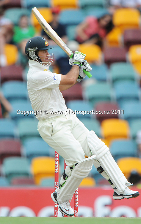 Ricky Ponting on Day 2 of the first cricket test between Australia and New Zealand Black Caps at the Gabba in Brisbane, Thursday 1 December 2011. Photo: Andrew Cornaga/Photosport.co.nz