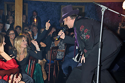KATE MOSS and BOY GEORGE at the Hoping Variety Show - A benefit evening for Palestinian Refugee Children held at The Cafe de Paris, Coventry Street, London on 21st November 2011.