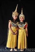 Portrait de l'école du ballet royal lao au Gala association LuangPrabang