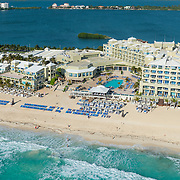 Aerial view of the Gran Caribe Real hotel. Cancun, Mexico.