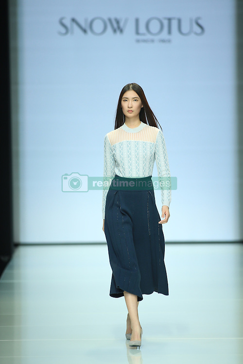 September 29, 2016 - Beijing, Beijing, China - Beijing, CHINA-September 29 2016: (EDITORIAL USE ONLY. CHINA OUT) The fashion brand Snow Lotus releases the autumn/summer collection at Beijing Fashion Week in Beijing, September 29th, 2016. (Credit Image: © SIPA Asia via ZUMA Wire)