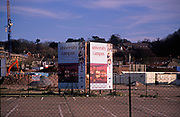 A5EXGC Large signboard on site of future University of Suffolk on former industrial land Ipswich Docks, Suffolk, England. Image shot 2006. Exact date unknown.