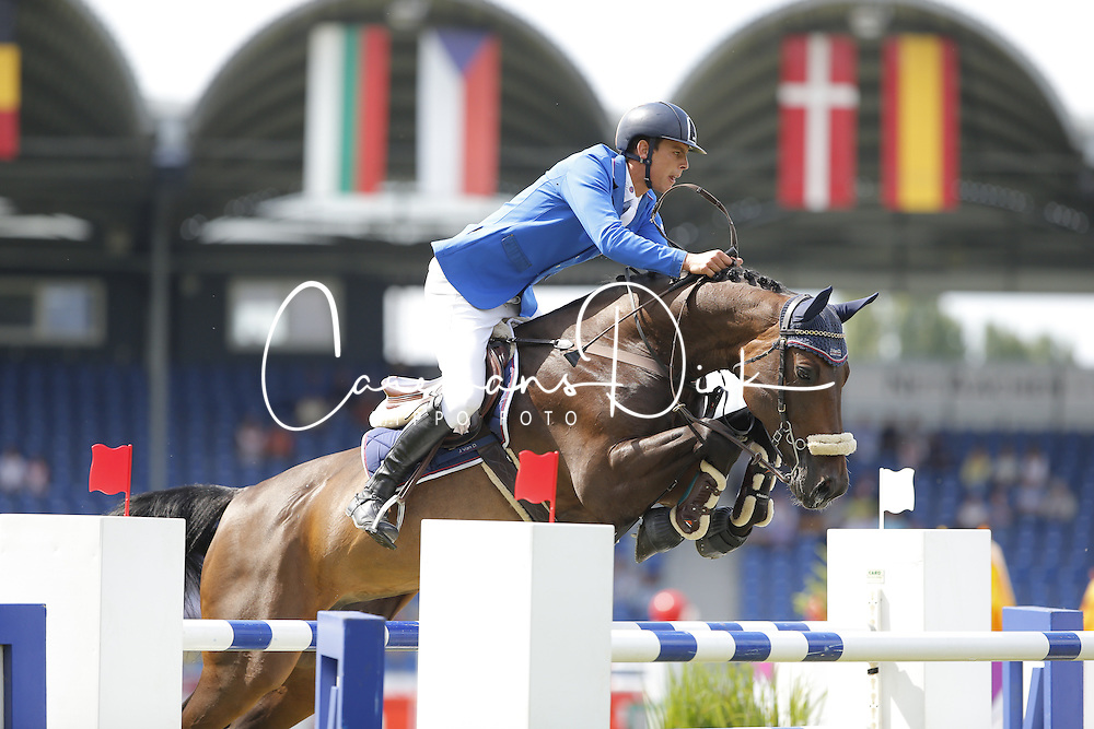 Zaloznik Luka, (SLO), Contesa<br /> Team Competition round 1 and Individual Competition round 1<br /> FEI European Championships - Aachen 2015<br /> &copy; Hippo Foto - Stefan Lafrentz<br /> 19/08/15