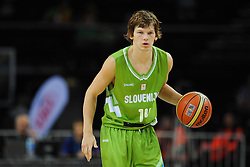 Jaka Klobucar of Slovenia during friendly match between National Teams of Slovenia and New Zealand before World Championship Spain 2014 on August 16, 2014 in Kaunas, Lithuania. Photo by Vid Ponikvar / Sportida.com