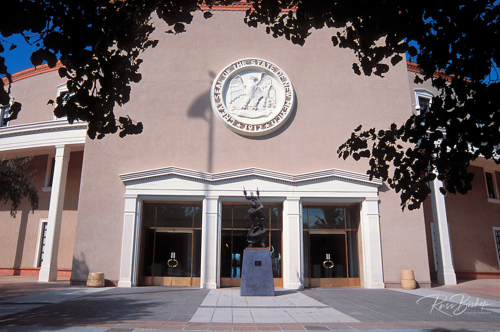 The New Mexico state capitol building (the Roundhouse), Santa Fe, New Mexico