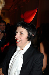 A party hosted by Mario Testino, Bianca Jagger and Kenneth Cole in collaboration with UNFPA and Marie Stopes International to celebrate the publication of Women to Woman: Positively Speaking - a book to raise awareness of women living with HIV/Aids, held at The Orangery, Kensington Palace, London on 2nd December 2004.<br />Picture shows:- ISABELLA BLOW.<br /><br />NON EXCLUSIVE - WORLD RIGHTS