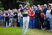English golf professional Luke Donald  plays out of the rough during the BMW PGA Championship at the Wentworth Club, Virginia Water, United Kingdom on 28 May 2016. Photo by Simon Davies.