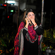 Mar 27, 2016 - Lahore, Pakistan - A Pakistani woman mourns over the death of a relative outside a hospital following a suicide blast in eastern Pakistan where at least 63 people, including women and kids, were killed and over 306 others injured when a suicide bomber hit a public park on Sunday evening.(Credit Image: © Exclusivepix Media)
