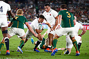 Ben Youngs of England and Pieter-Steph du Toit, Frans Malherbe of South Africa during the World Cup Japan 2019, Final rugby union match between England and South Africa on November 2, 2019 at International Stadium Yokohama in Yokohama, Japan - Photo Yuya Nagase / Photo Kishimoto / ProSportsImages / DPPI